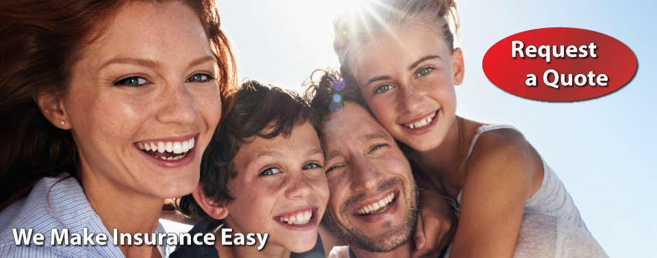 We Make Insurance Easy - Request a Quote - Family laughing